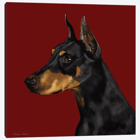 Doberman Canvas Print #VNE32} by Vicki Newton Canvas Wall Art