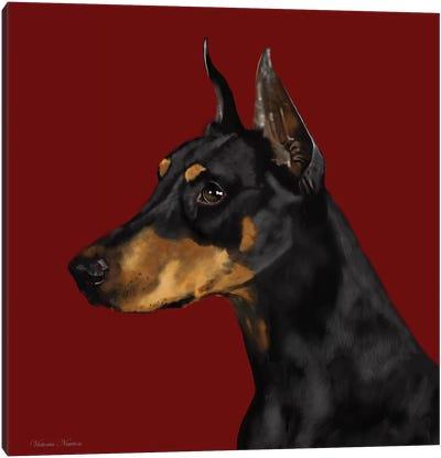 Doberman Canvas Art Print