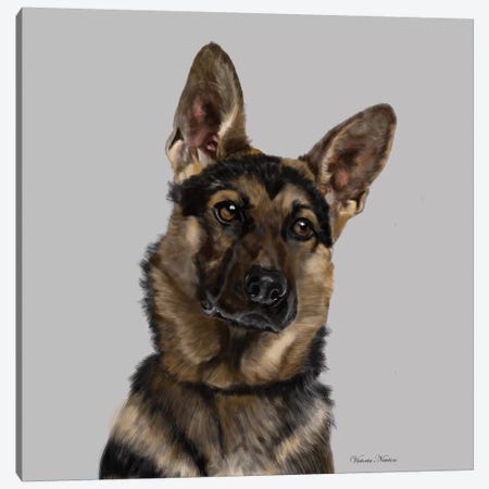German Shepherd Canvas Print #VNE34} by Vicki Newton Canvas Print