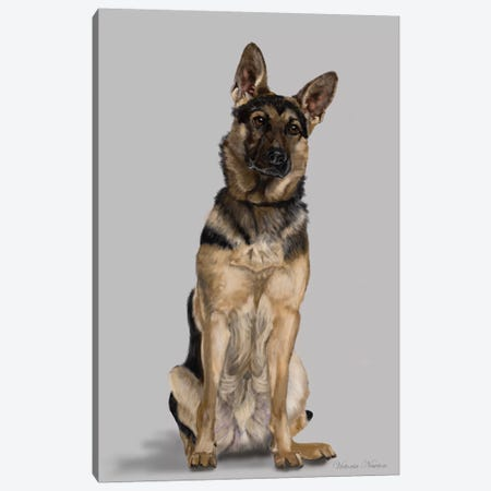 German Shepherd Full Body Canvas Print #VNE35} by Vicki Newton Art Print
