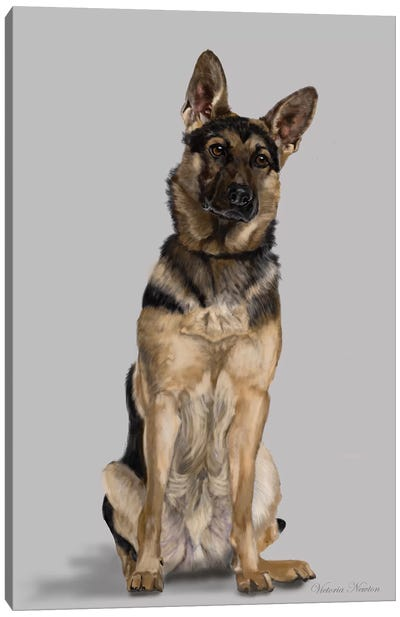 German Shepherd Full Body Canvas Art Print