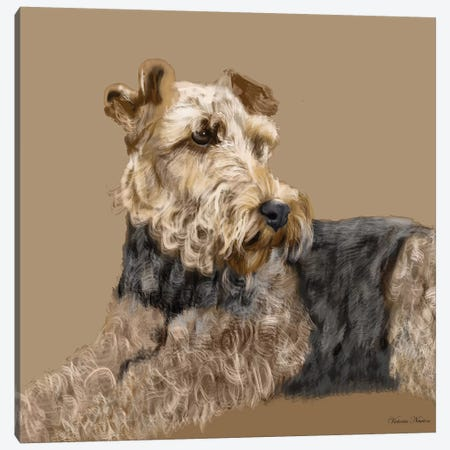 Airedale Canvas Print #VNE3} by Vicki Newton Canvas Print
