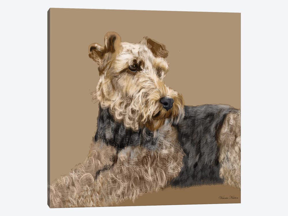 Airedale by Vicki Newton 1-piece Canvas Wall Art