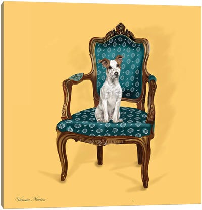 Jack Russell In Chair Canvas Art Print