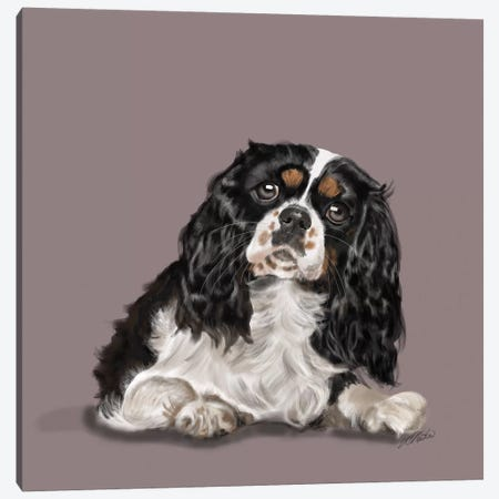 King Charles Big Eyes Canvas Print #VNE47} by Vicki Newton Canvas Artwork