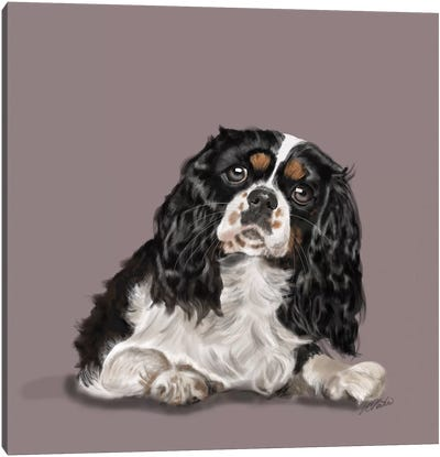 King Charles Big Eyes Canvas Art Print