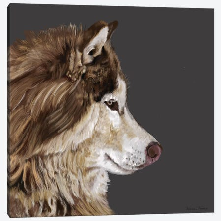 Alaskan Malamute Canvas Print #VNE4} by Vicki Newton Canvas Artwork