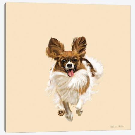 Pappillon Canvas Print #VNE56} by Vicki Newton Art Print