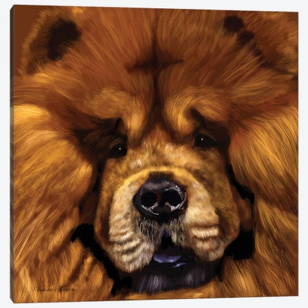 Chow Chow Canvas Print #VNE78} by Vicki Newton Canvas Wall Art