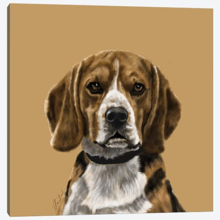 Beagle Canvas Print #VNE7} by Vicki Newton Canvas Art