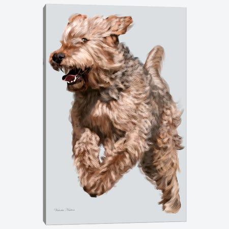 Otterhound in Flight Canvas Print #VNE82} by Vicki Newton Art Print