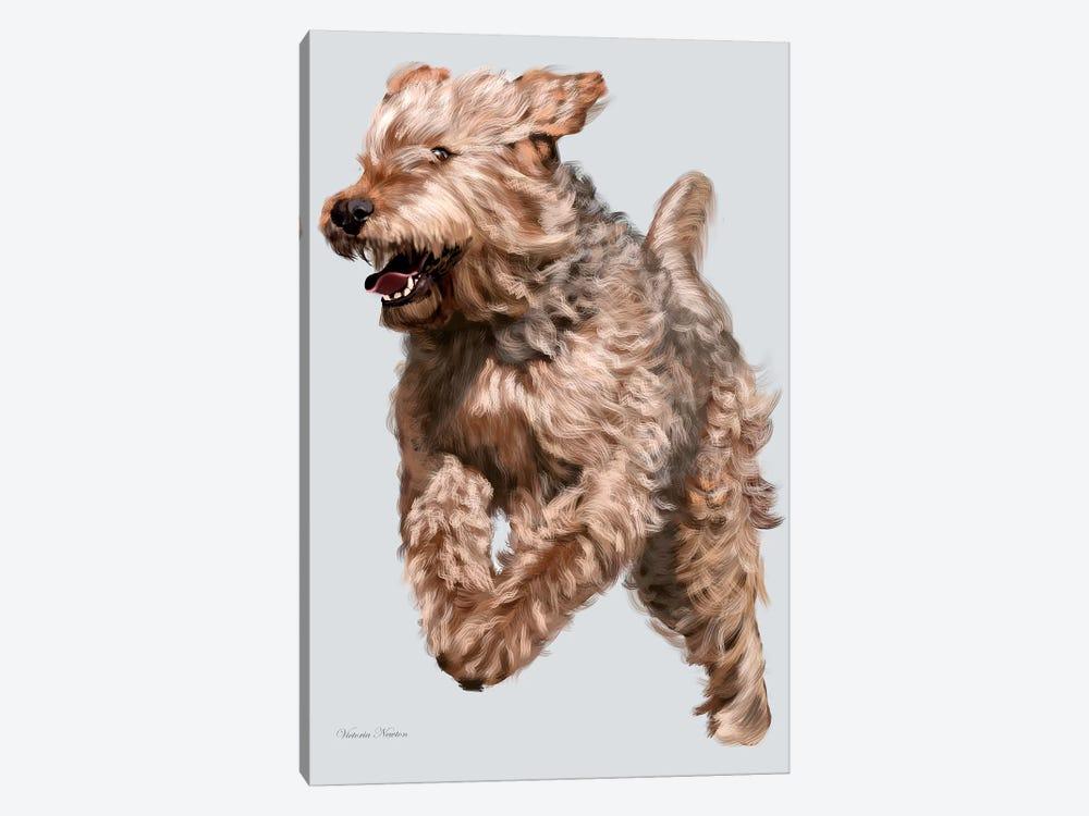 Otterhound in Flight by Vicki Newton 1-piece Canvas Artwork
