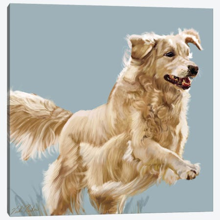 Golden Retriever Canvas Print #VNE92} by Vicki Newton Canvas Wall Art