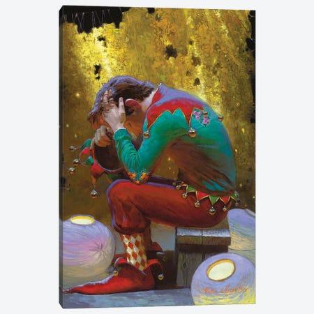 Golden Curtain Canvas Print #VNZ23} by Victor Nizovtsev Canvas Wall Art