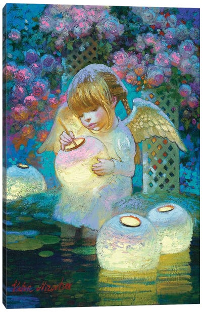 Rose Garden Lights Canvas Art Print