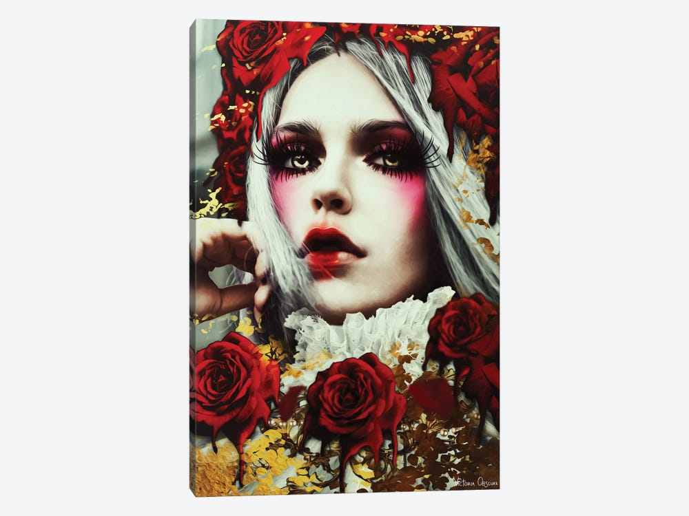Bleeding Roses by Victoria Obscure 1-piece Canvas Wall Art