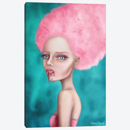 Cotton Candy Canvas Print #VOB18} by Victoria Obscure Canvas Artwork