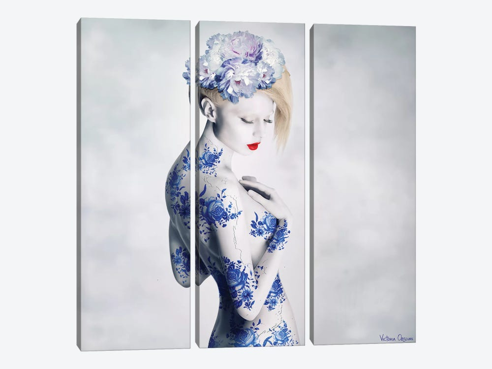 Porcelain by Victoria Obscure 3-piece Canvas Wall Art