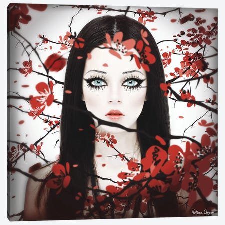 Sakura Canvas Print #VOB38} by Victoria Obscure Canvas Artwork