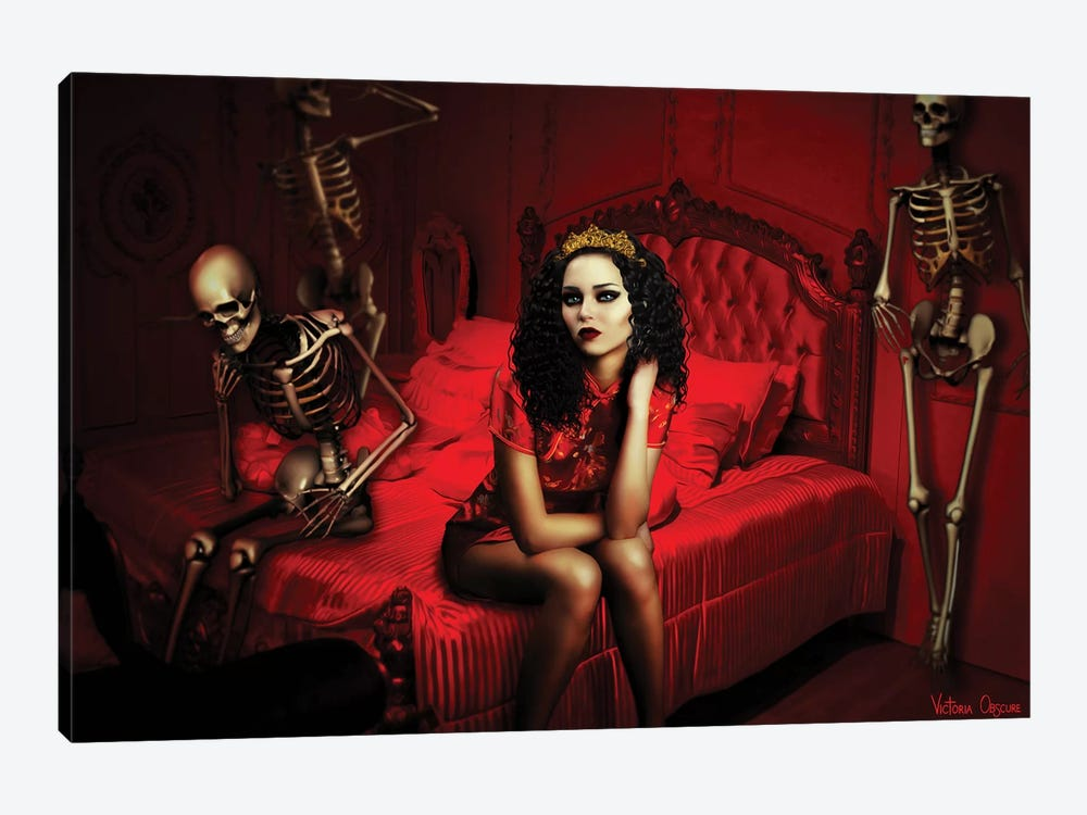 Thanatophobia by Victoria Obscure 1-piece Canvas Art Print