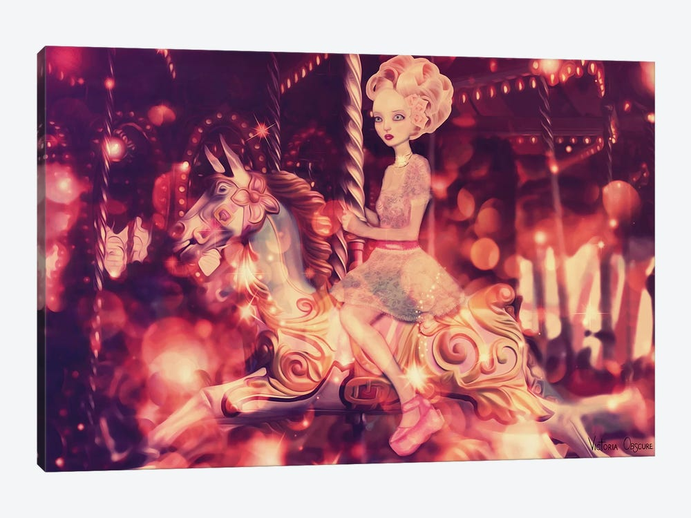 Carousel by Victoria Obscure 1-piece Canvas Wall Art