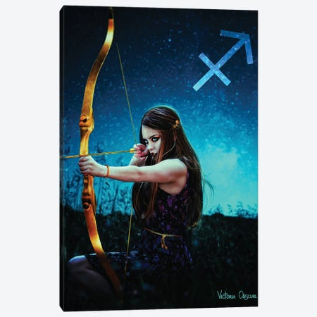 Sagittarius Canvas Print #VOB77} by Victoria Obscure Art Print
