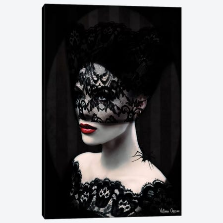 Black Lace Canvas Print #VOB9} by Victoria Obscure Canvas Art Print