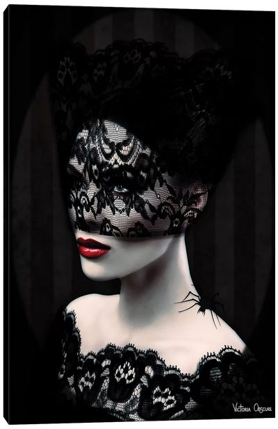 Black Lace Canvas Art Print