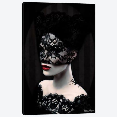 Black Lace Canvas Print #VOB9} by Victoria Obscure Canvas Art Print