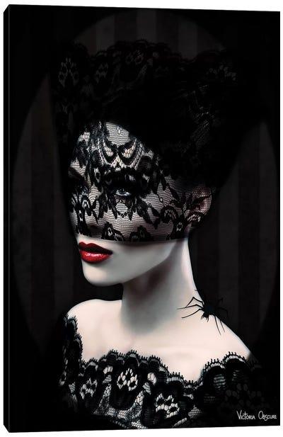 Black Lace Canvas Art Print