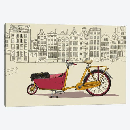 Amsterdam - Bicycle Canvas Print #VOW1} by 5by5collective Canvas Art Print
