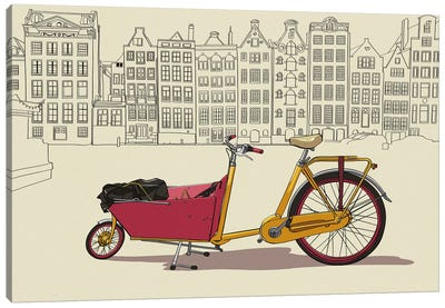 Amsterdam - Bicycle Canvas Print #VOW1