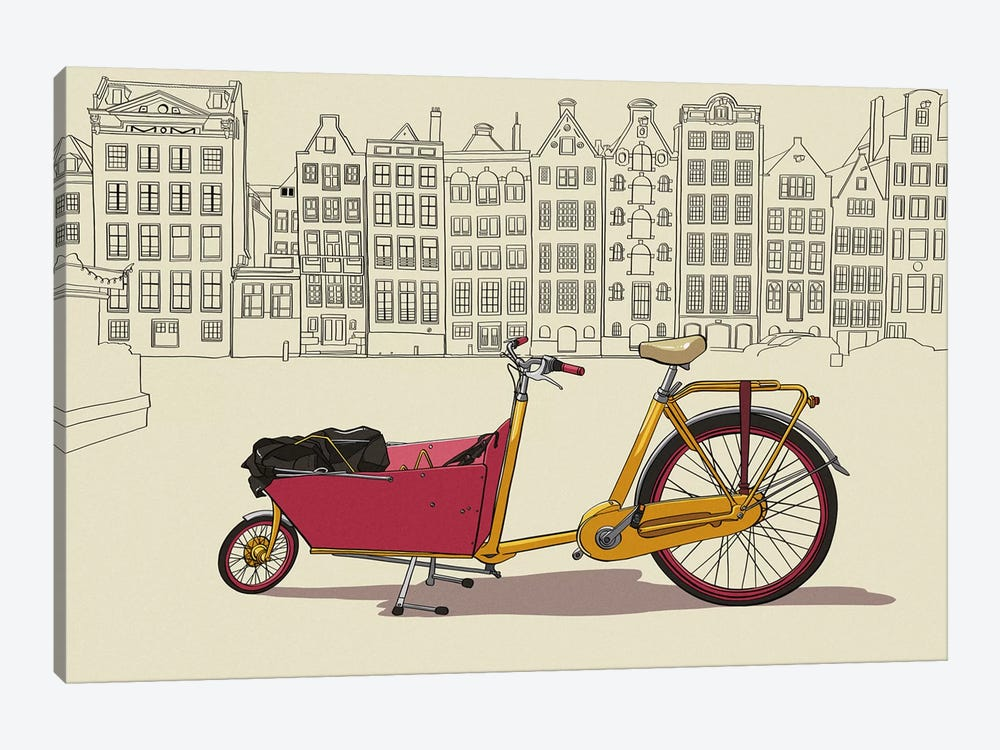 Amsterdam - Bicycle by 5by5collective 1-piece Canvas Print
