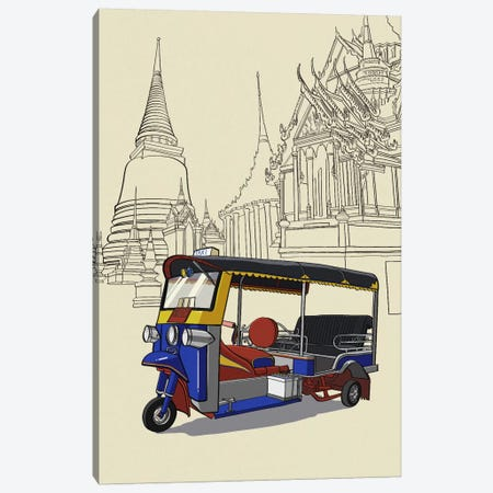 Bankok - Tuk tuk Canvas Print #VOW2} by 5by5collective Canvas Art Print