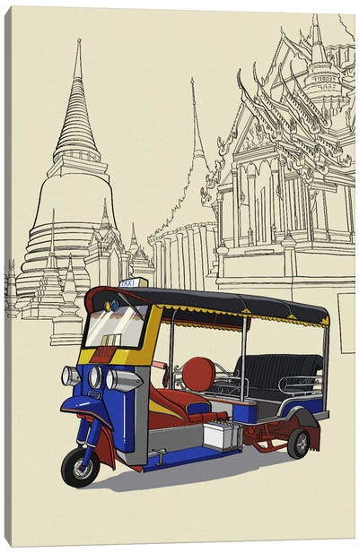 Bankok - Tuk tuk Canvas Art Print