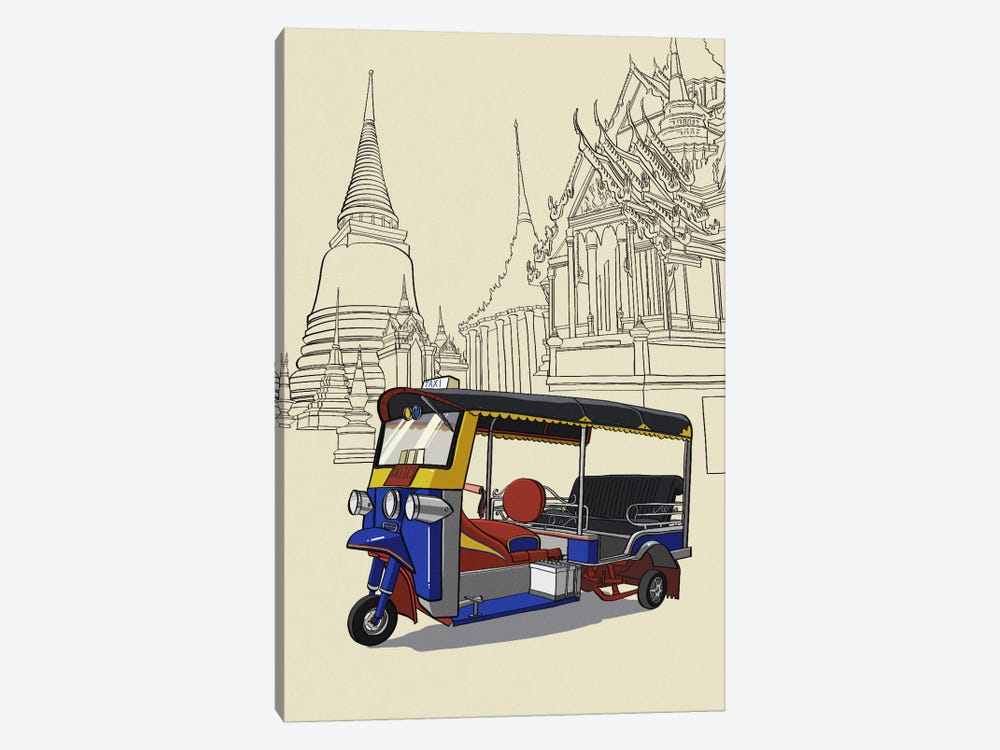 Bankok - Tuk tuk by 5by5collective 1-piece Canvas Artwork