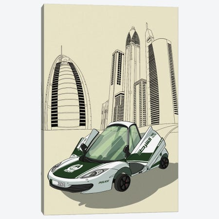 Dubai - Sports car Canvas Print #VOW3} by 5by5collective Canvas Art Print
