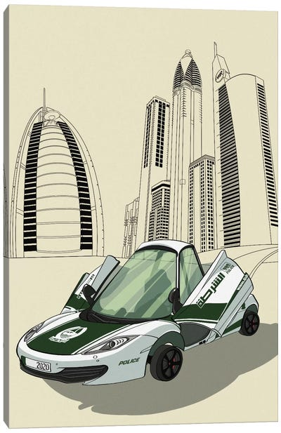 Dubai - Sports car Canvas Art Print