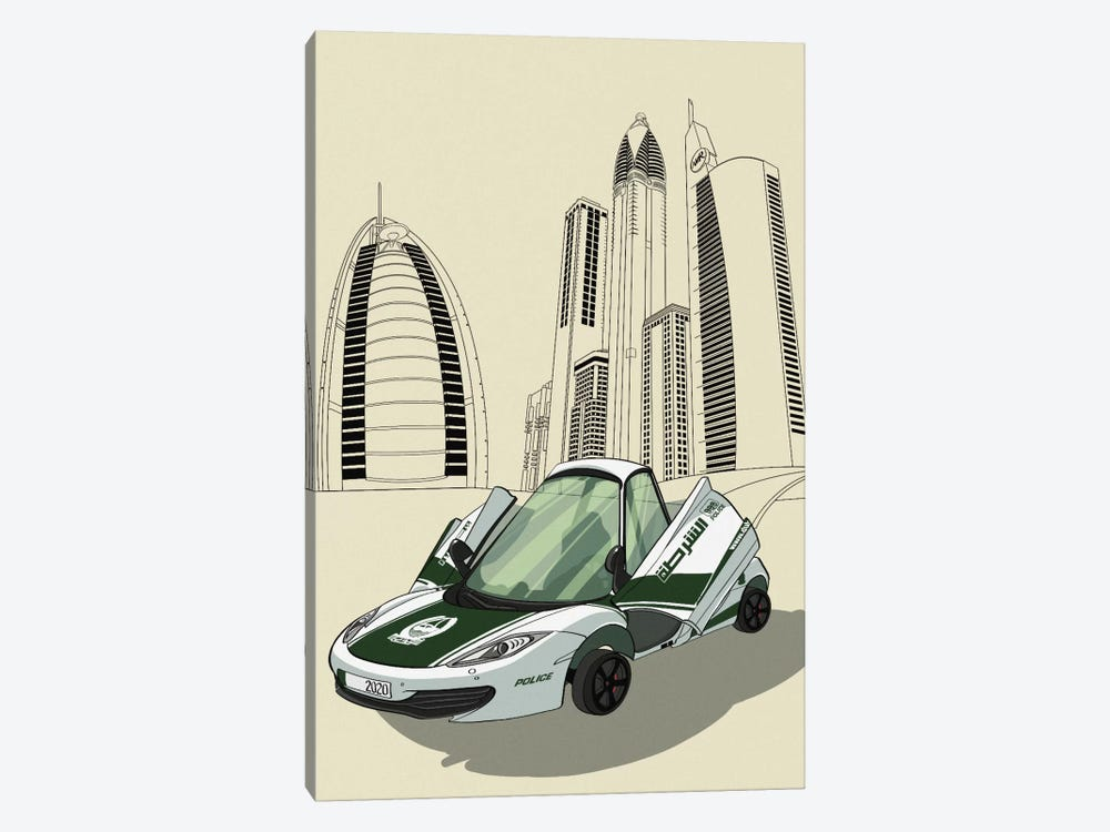 Dubai - Sports car by 5by5collective 1-piece Canvas Art Print