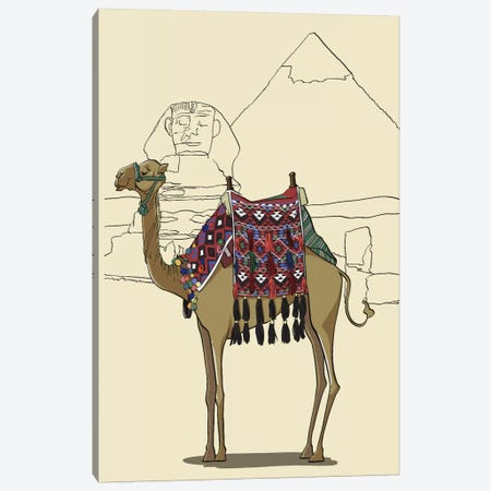 Egypt - Camel Canvas Print #VOW4} by 5by5collective Canvas Wall Art