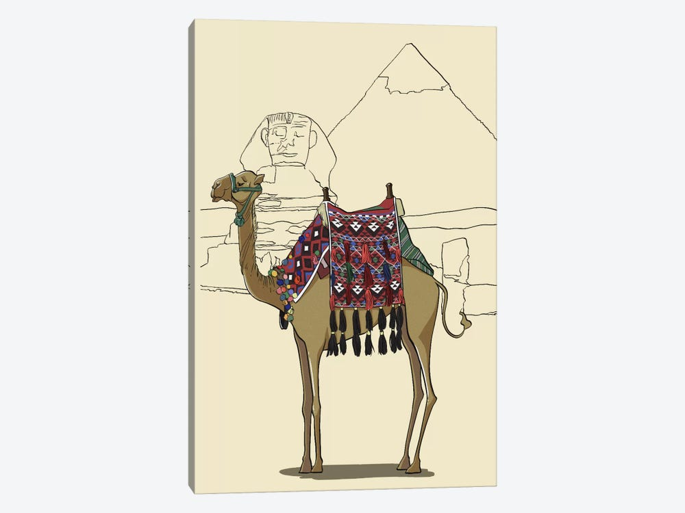 Egypt - Camel by 5by5collective 1-piece Canvas Wall Art