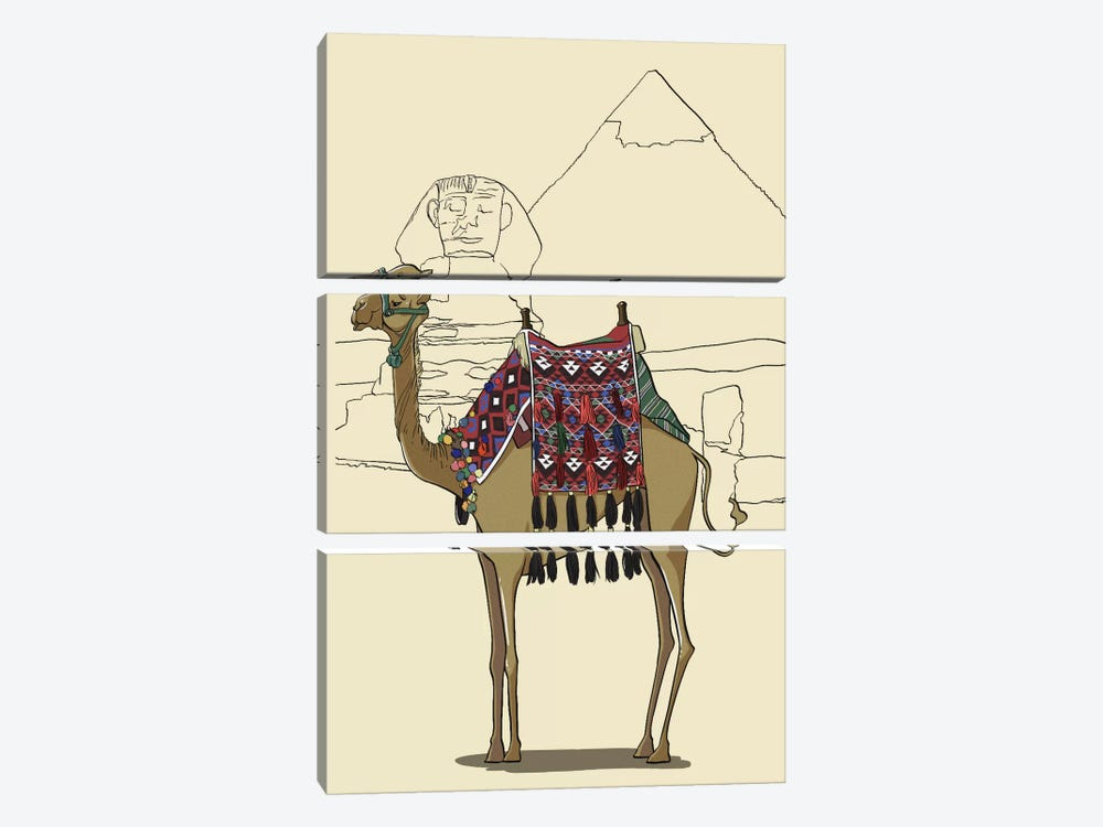 Egypt - Camel by 5by5collective 3-piece Canvas Wall Art