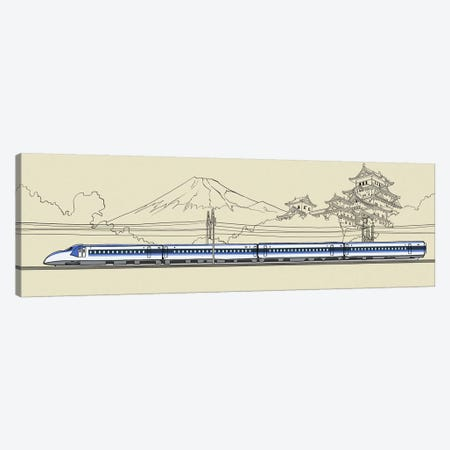 Japan - Bullet train Canvas Print #VOW5} by 5by5collective Canvas Art