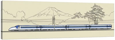 Japan - Bullet train Canvas Art Print
