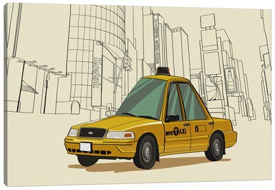 New York - Taxi Canvas Art Print