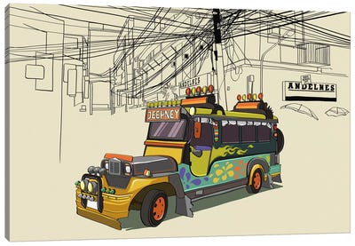 Philippines - Jeepney Canvas Print #VOW8
