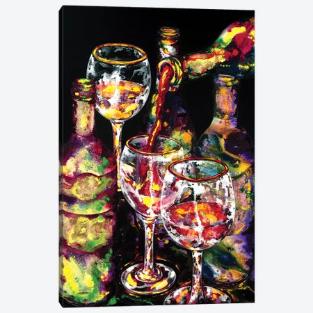 Goood Libations Canvas Print #VPE10} by Vaso Peritos Canvas Wall Art
