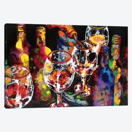 Miracle In A Glass Canvas Print #VPE17} by Vaso Peritos Art Print