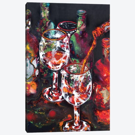 One More Bottle Canvas Print #VPE19} by Vaso Peritos Canvas Wall Art