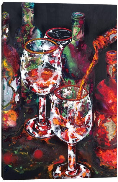 One More Bottle Canvas Art Print